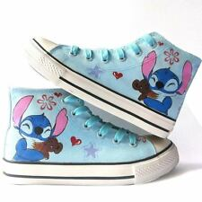 Lilo and Stitch Pattern Children's Hand-painted Canvas Shoes Girls Boys Sneaker