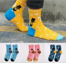 5pairs Lot Fashion Men Color-block Long fashion Brand High Quality Cotton Socks