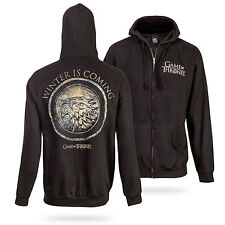 Game Of Thrones STARK SEAL WINTER IS COMING CIRCLE Zip Up Hoodie NWT Licensed