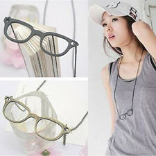 Fashion And Contracted 3 Color Glasses Long Sweater Chain Necklace Hot Sale Cute