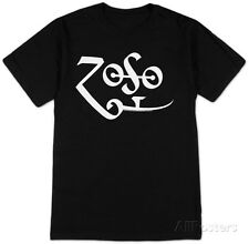 Jimmy Page - White Zoso Logo T-Shirt Black New Shirt Tee