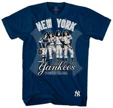 KISS - New York Yankees Dressed to Kill T-Shirt Blue New Shirt Tee
