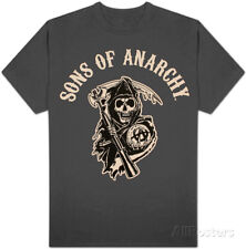 Sons of Anarchy - Logo T-Shirt Grey New Shirt Tee