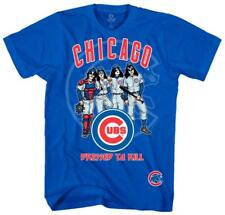 KISS - Chicago Cubs Dressed to Kill T-Shirt Blue New Shirt Tee