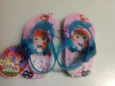 BNWT GIRLS SIZE 6 LALALOOPSY PRINT VELCRO ASDJUSTABLE SLING BACK THONGS NEW