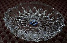 Vintage Ashtray Heavy Clear Crystal Glass Starburst Pattern Ash Tray