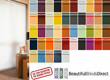 """Complete Vertical Blinds FROM £7..Made to Measure 3.5"""" Slats/Louvres 35 Colours"""