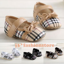 ADORABLE Plaid Bow Baby boy girl shoes infant toddler crib sneakers 0-18 months