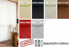 """Complete Vertical Blinds FROM £7.. Made to Measure 3.5"""" Slats/Louvres 8 Colours"""