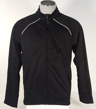Adidas Golf ClimaProof Storm Black Full Zip Wind & Rain Jacket Mens NWT