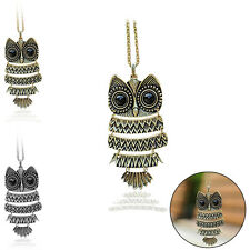 Lady New Vintage Owl Pendant Necklace Best Gift For Birthday XMAS