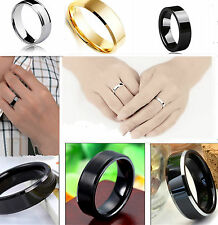 Unisex Women Men Stainless Steel Rings Smooth Pendants Rings Fashion jewelry 1pc