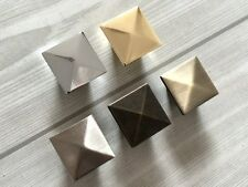 Square Dresser Knobs Drawer Pull Cabinet Knob Chrome Nickel Gold Bronze Silver
