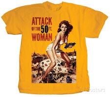 Attack of the 50ft. Woman T-Shirt Yellow New Shirt Tee