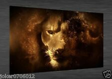 Home Deco Oil Painting HD Print Lion On Canvas Modern Deco Wall Art 20X36 inch
