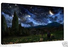 Oil Painting HD Print On Canvas Art Decor Wall Art:Van Gogh Looking At The Stars