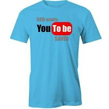 God Wants You To be Saved T-shirt Funny Viral Parody Meme Tee New