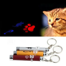 Funny LED Laser Pointer Light Pen Pet Cat Toy Torch Fish/Mouse/Cat Paw Animation