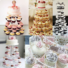 3-7 Tier Acrylic Display Tower cake stand for Weddings Party Birthdays Cupcakes