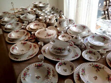 ROYAL ALBERT ' MOSS ROSE '  TEA SET AND TABLEWARE - ENGLISH BONE CHINA
