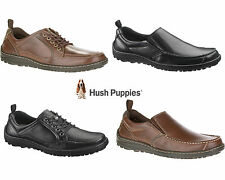 New Mens Hush Puppies Belfast Wide Fit Comfort Casual Lace Up Slip On Work Shoe