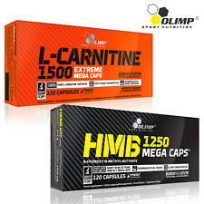 L-Carnitine 1500 + HMB 60-120 Caps. Fat Burner Slimming Pills Anti-Catabolic
