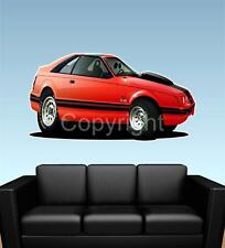 1983 Ford Mustang GT 5.0 FAT WALL GRAPHIC DECAL MAN CAVE MURAL 6138 CARTOONTEES