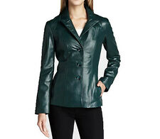 Neiman Marcus Women's Leather Blazer Jacket