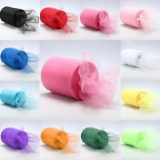 """6""""x 25yd Tulle Roll Spool Tutu Wedding Party Gift Fabric Craft Decorations Hot v"""