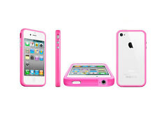 Clear Chic Bumper Case Cover Frame Linear Frame for iPhone 4S 4 Aluminum Buttons