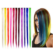 """New 24"""" Colored Colorful Clip On In Hair Extension BGO"""