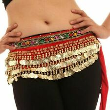 Gold Coins Shining Colorful Sequin Beads Belly Dance Hip Scarf Wrap Belt Skirt