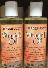 Trader Joe's Vitamin E Oil 8 oz/236 ml Face Hand Feet Body Moisturizer - Sealed