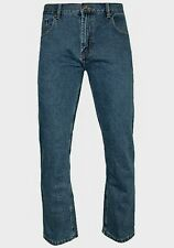 Mens blue straight leg with pockets zip fly denim jeans