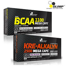 BCAA + Kre-Alkalyn 60-180 Caps. Anabolic Anti-Catabolic Muscle Growth Creatine