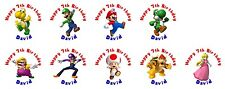 108 Super Mario Hershey Kiss Labels Favors Stickers Personalize changes OK