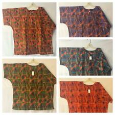 Men Clothing Kente Print Cotton Dashiki Boho Top African Ethnic Shirt Free Size