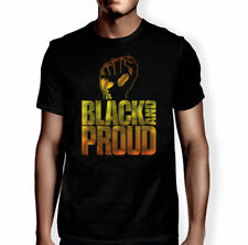 Black And Proud T-Shirt Men's Unisex New African American Black Power Fist Tee