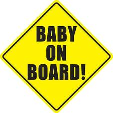 Baby on board sticker decal inside window static cling magnet