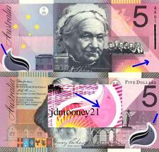 2001 Australian vUnc $5 Federation Commemorative Polymer Banknote Issue r219