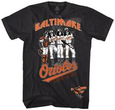 KISS - Baltimore Orioles Dressed To Kill T-Shirt Black New Shirt Tee