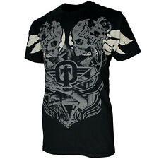 TAPOUT Bolt Mens MMA UFC Fight T-Shirt Tee - Black - RRP £30