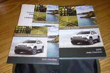 2015 JEEP CHEROKEE USER GUIDE OWNERS MANUAL SET DVD w/case 15