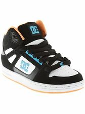 DC Black-White-Royal Rebound Boys Hi Top Shoe