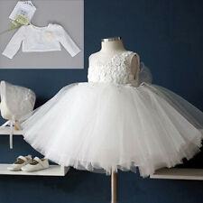 Girls Baby Christening Dress Embroidered Princess Baptism Dresses Floral Formal
