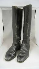 Original WW1 Officers Black Leather Tall Boots, Size 9