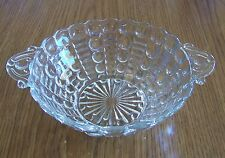 VINTAGE CLEAR DEPRESSION GLASS COMPOTE CANDY DISH