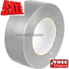 "DUCK Duct Gaffa Gaffer Waterproof Cloth Tape SILVER48mm 2"" x 50 m strong 4 2 3 6"