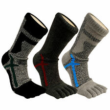 Men's Comfy Performance Moisture Wicking Dry Coolmax Breathable Finger Toe Socks