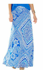 $138 NEW Lilly Pulitzer Nola Maxi Skirt Blue Crush Open Water White S Small